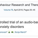 Research on Turnaround Published in Behaviour Research and Therapy