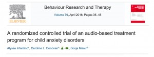 Research on Child Anxiety Program Published